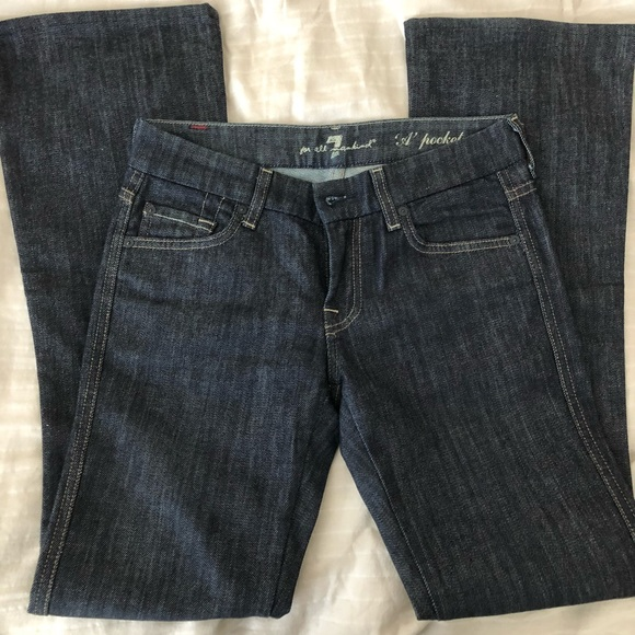 7 For All Mankind Denim - seven for all mankind dark blue jeans